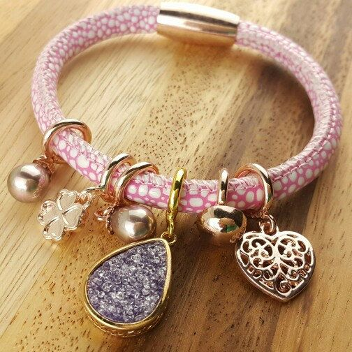 Endless leather bracelet one loop price at 11.5usd only and variety of charm cubic,pearl,birthstone staring at 1.5usd only...create your cool wrap bracelet at your choice every day.