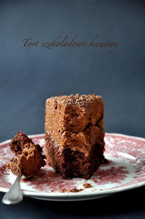 Kuchnia Doroty: Tort czekoladowo-kawowy mus