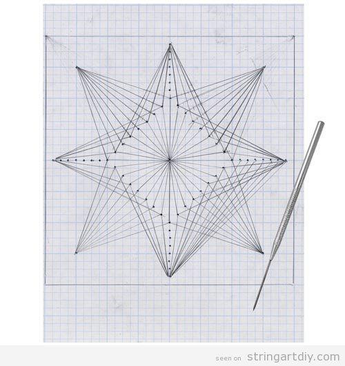 geometric string art free pattern paper kids Geometric String Art project on paper