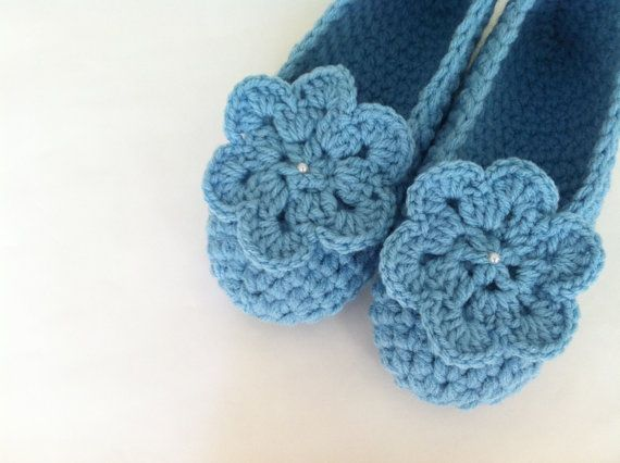 Extra thick , Simply slippers , Crochet Adult Slippers , Women house shoes