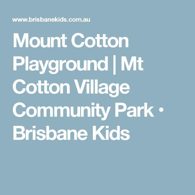 Mount Cotton Playground | Mt Cotton Village Community Park • Brisbane Kids