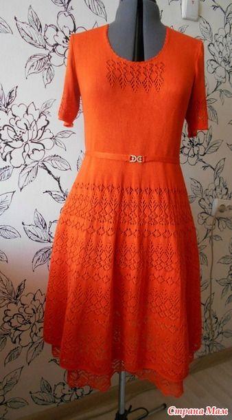 Ажурное платье. Спицы