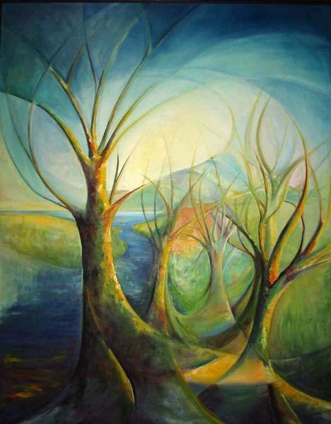 Fantasy of Trees - Original Oil Painting