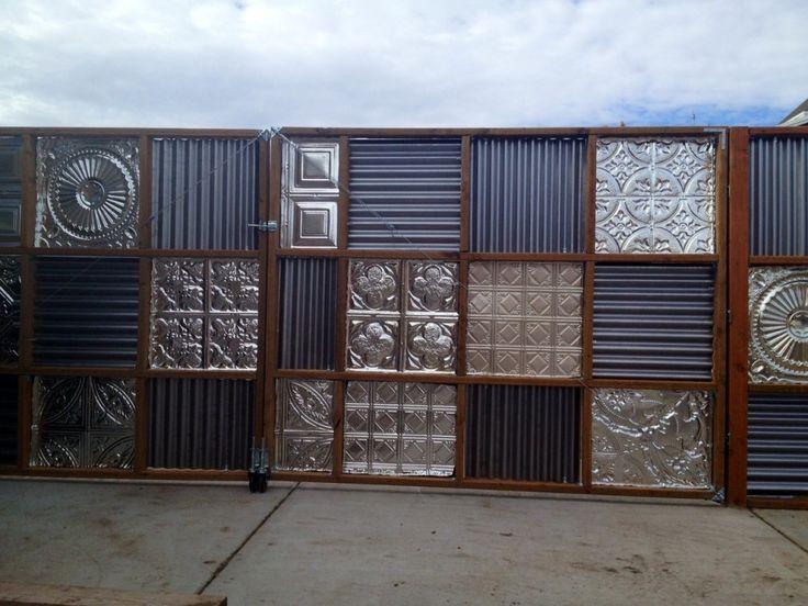 creative fence ideas corrugated metal