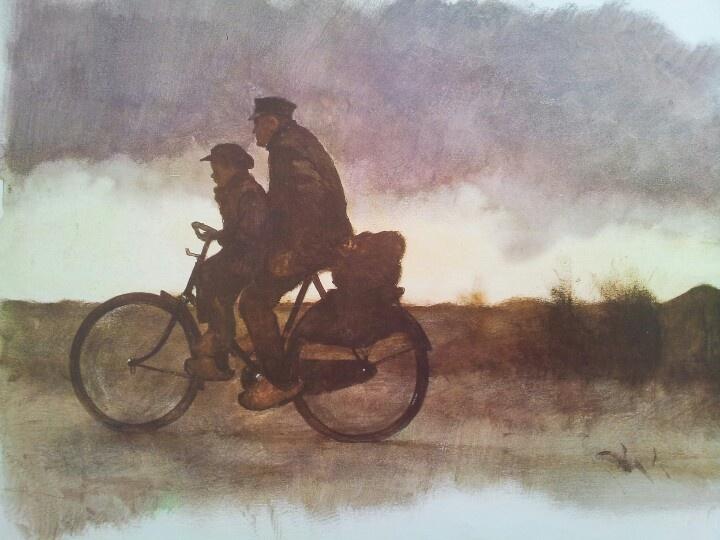 Op de fiets...