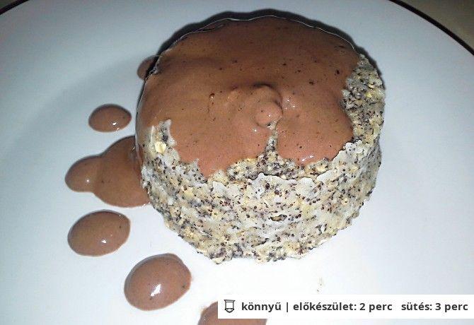 Mákos süti mézes csokiöntettel (mikrós)