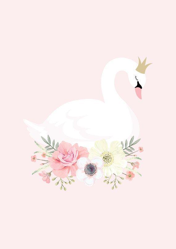Pink Swan Princess Print