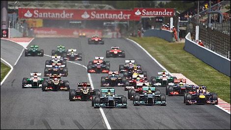 F1 Start Spain
