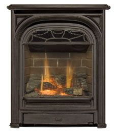 The Q1 gas fireplace insert is designed to fit small coal burning fireplaces found in historic homes