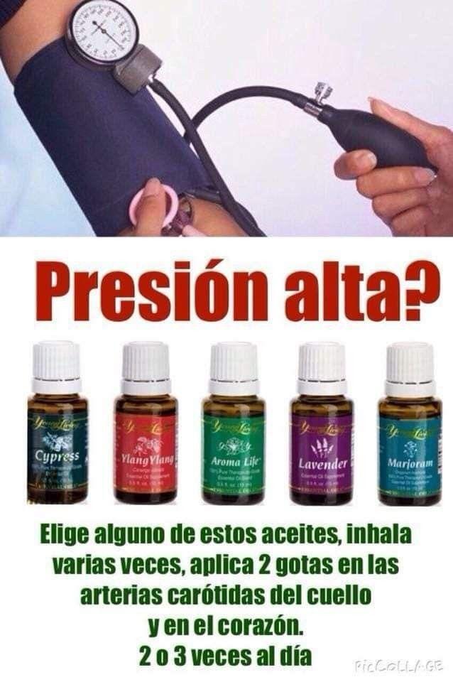 Hipertensión aceites esenciales inhalación