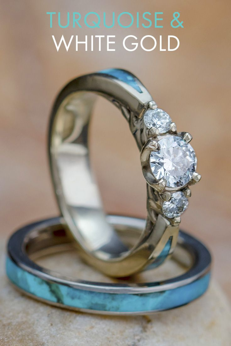 Pin By Madison Nielson On Things For My Baby Girl In 2020 Turquoise Ring Engagement Engraved Jewelry Blue Tungsten Ring