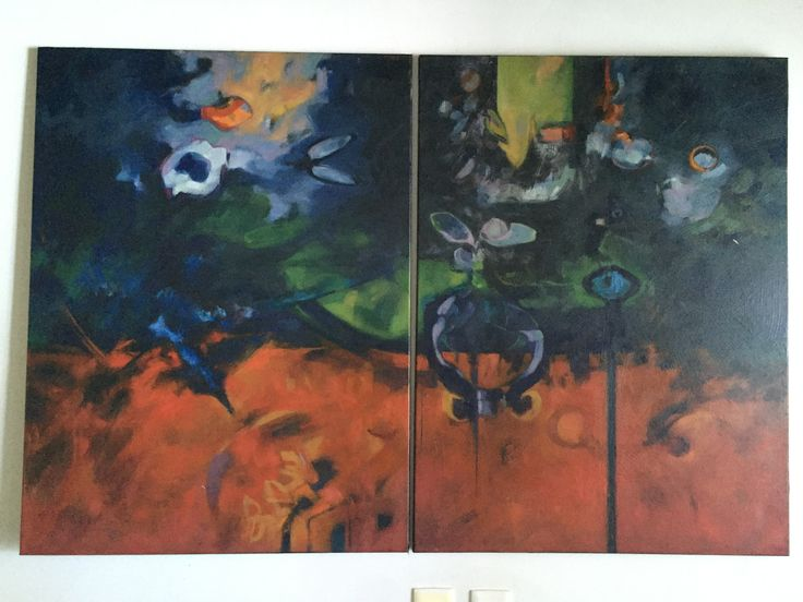 Tropos 1 diptico oleo sobre lienzo 154*100 cms