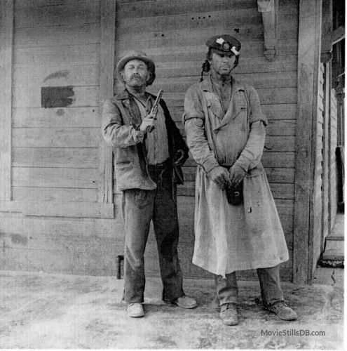 The Wild Bunch - Behind the scenes photo of Strother Martin & Lq Jones