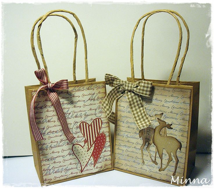 christmas decorated gift bags | hope you got some inspiration and I`m wishing you a wonderful ...