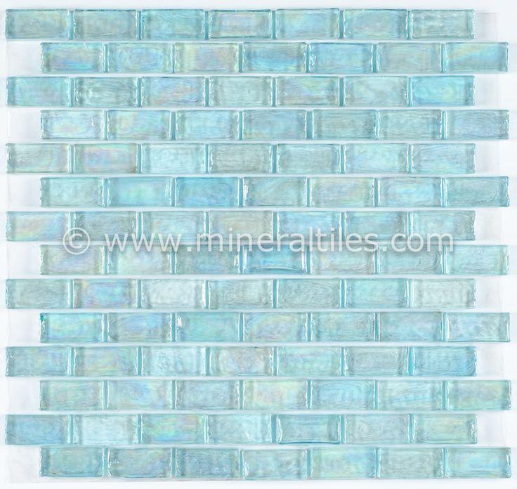 iridescent pool glass tile aqua 1x2 aqua