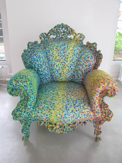 Pixelated chair.