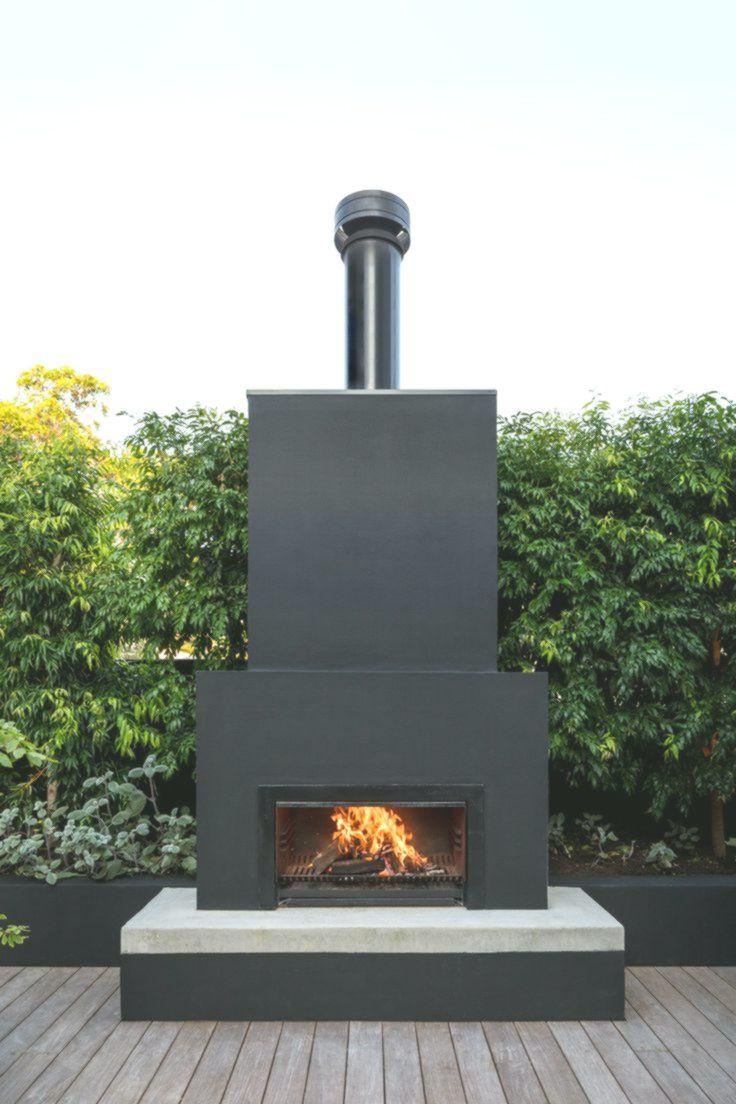 Kamin Im Freien Schwarz Dieses Vaucluse Wohnprojekt Wurde Entworfen Und Gebaut Outdoor Fireplace Designs Diy Outdoor Fireplace Backyard Fireplace