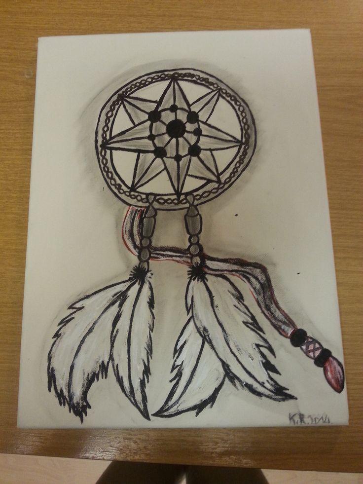 Dreamcatcher. ( Lyijykynä+akryylit.) #art