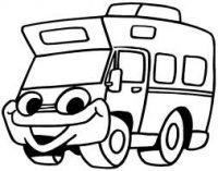 Les 14 meilleures images du tableau coloriages camping car pour enfant sur pinterest - Camping car a colorier ...