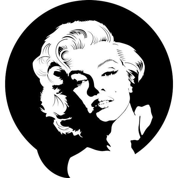Vinilo decorativo Marilyn Monroe circulo