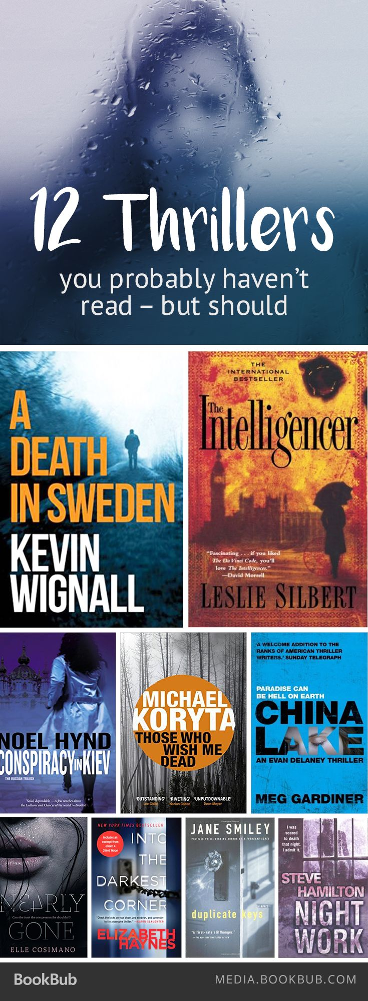If you love books by James Patterson, Paula Hawkins, and Harlan Coben, check out these 12 thrillers you probably haven't read, but should.