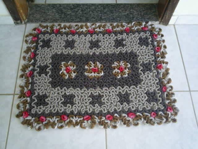 Maria Amélia - Crochê: My First, De Ouro, Tapete Labirinto, Crochet Rugs, Maria Amélia, Quaver, Ponto Wiggly, Pretty, Tapet Labirinto