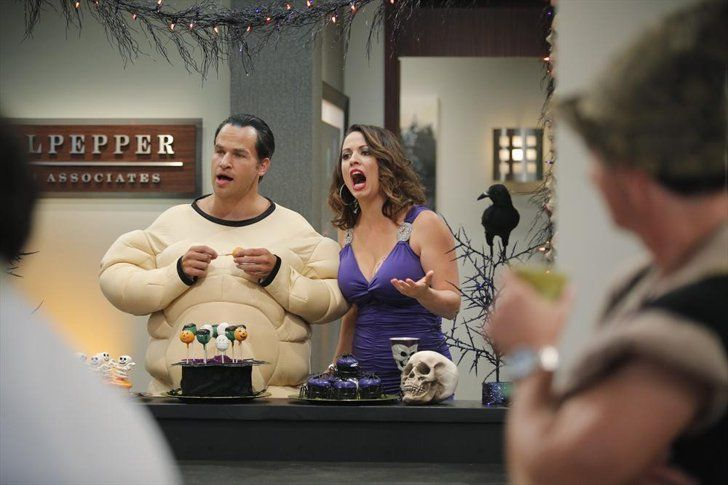 Pin for Later: TV Characters Have the Best Halloween Costumes This Year Cristela David Hoffman and Kay Cannon on the Halloween episode of Cristela.