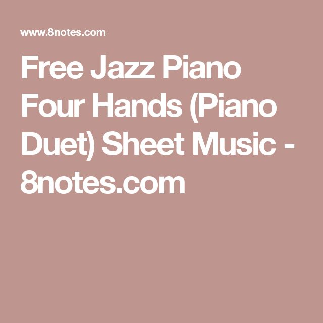 13 best piano music images on pinterest piano pianos and piano music free jazz piano four hands piano duet sheet music fandeluxe Gallery