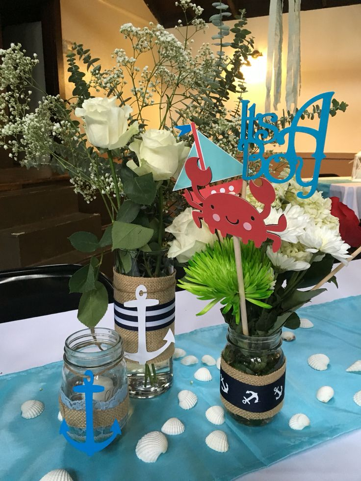 nautical baby shower centerpieces nautical baby shower