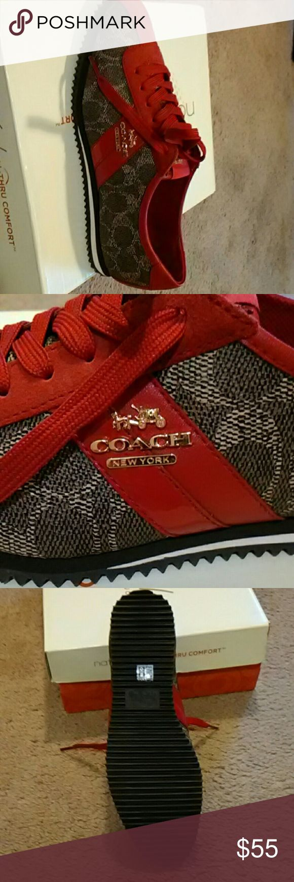 Shoes by coach Red and grey coach shoes Coach Shoes Sneakers