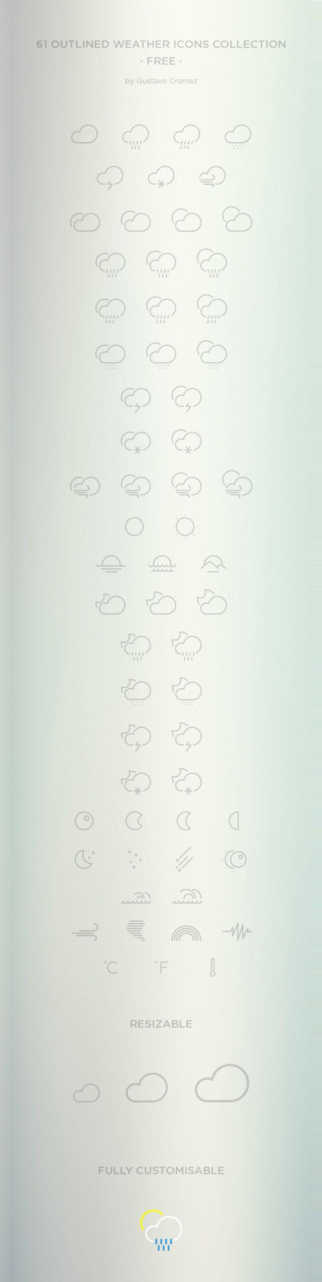Kostenlose Wetter-Icons als Vektor-Datei