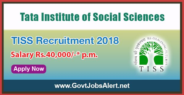 """TISS Recruitment 2018 - Hiring Research Assistants Posts, Salary Rs.40,000/- : Apply Now !!!  The Tata Institute of Social Sciences – TISS Recruitment 2018 has released an official employment notification inviting interested and eligible candidates to apply for the positions of Research Assistants under University of Chicago Centre in Delhi and Tata Institute of Social Sciences collaborative research project entitled, """"Slum Clearance, Urban Restructuring and (Re)Emergen"""