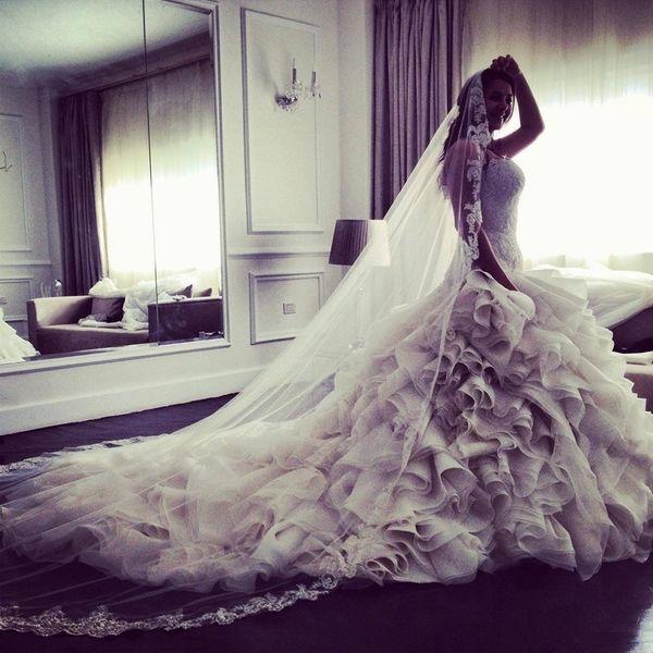 Donia Samir Ghanem in Yasmine Yeya couture | Wedding Ideas ...  Donia Samir Gha...