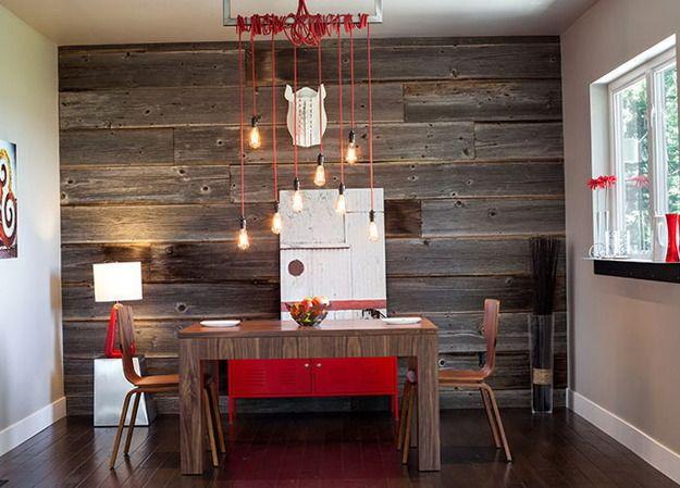 Фотография: Кухня и столовая в стиле Современный, Лофт, Декор интерьера, Декор дома, ретро-интерьер, доски в интерьере, старые доски, старые доски в интерьере – фото на InMyRoom.ru