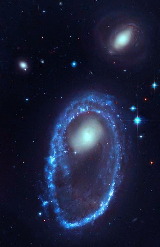 """Located approximately 300 million light-years away in The Constellation Of Volans, AM 0644-741 is One Of The Most Spectacular """"Ring Galaxies"""" we currently know..!! 