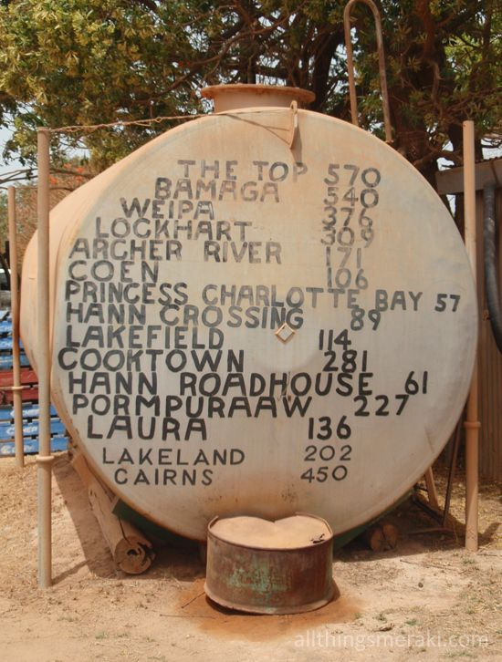Distances from Musgrave Roadhouse, Cape York Peninsula