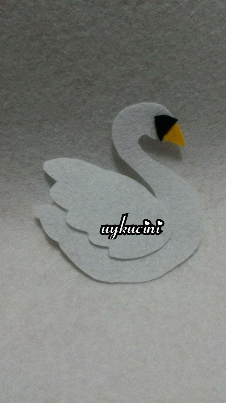 uykucini - keçe kuğu  felt swan