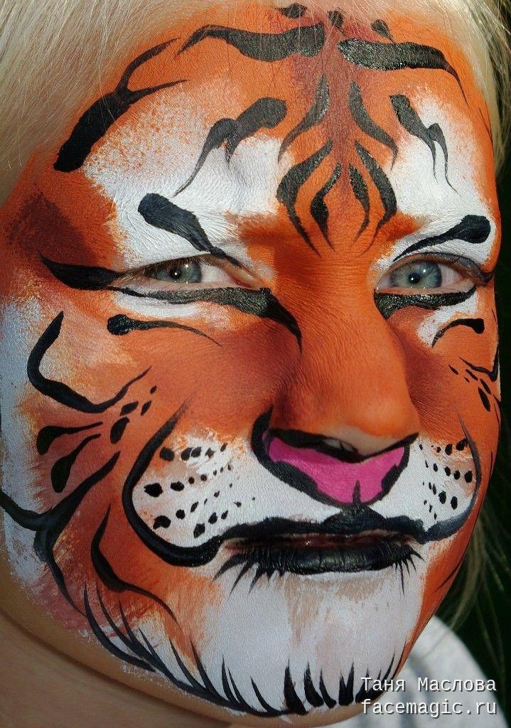 Картинки грим тигра на лице