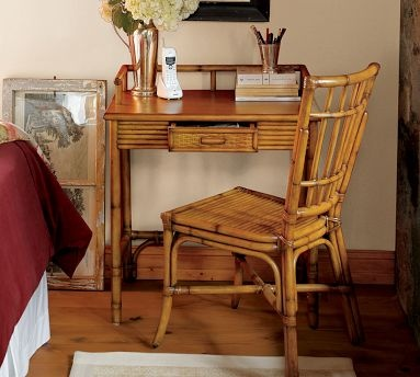 Rattan Desk From Pottery Barn