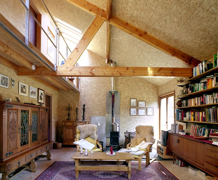 vandewiele house by barak (love the particle board interior walls — oriented strand board, actually)