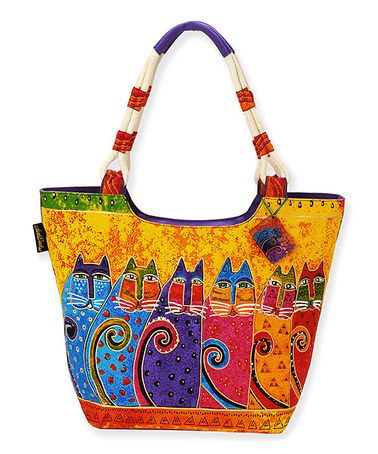 Look what I found on #zulily! Yellow Feline Tribe Hobo by Laurel Burch #zulilyfinds