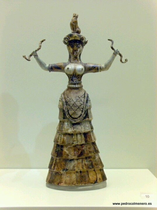 Escultura de una Duosa de las Serpientes.Creta.Arte Minoico