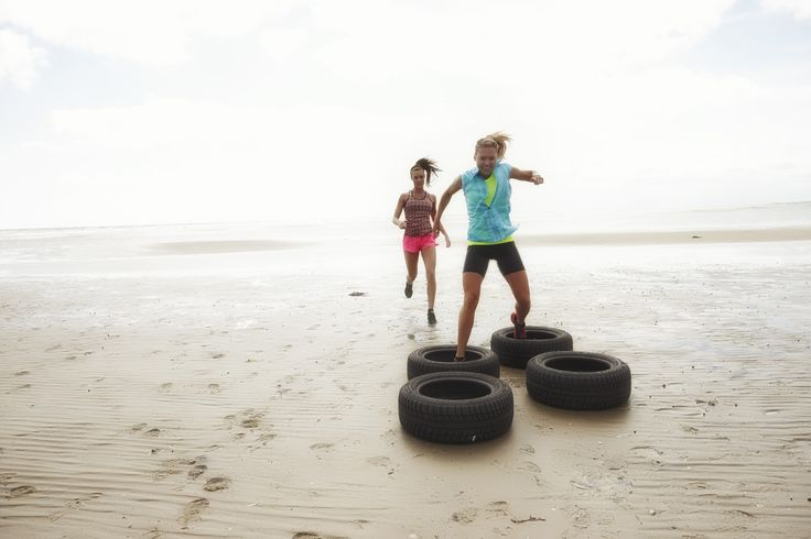 Fitness wear by Purelime Spring 2015 fun workout on the beach
