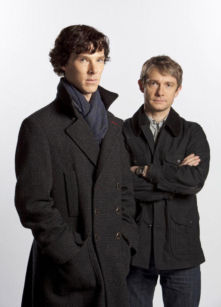 What A Kerfuffle! An Art Blog.: Sherlock Cartoon - Sherlock Holmes (Benedict Cumberbatch) and Dr. Watson (Martin Freeman)