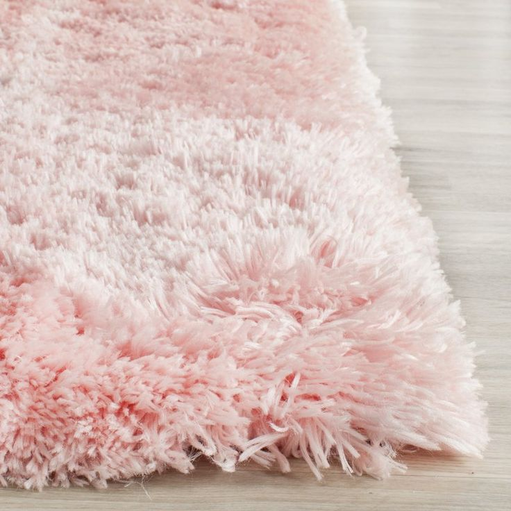 Dazzle Blush Pink Rug: Dax Shag Hand-Tufted Pink Area Rug In 2019