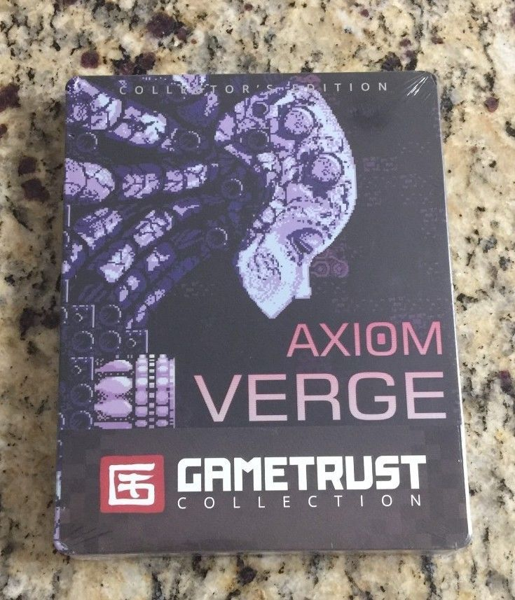 Axiom Verge PC Steelboox Edition GAMETRUST COLLECTION Steel book BRAND NEW! rare