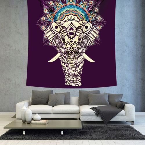 Bohemian elephant hippie wall tapestry by Christinedecorshop