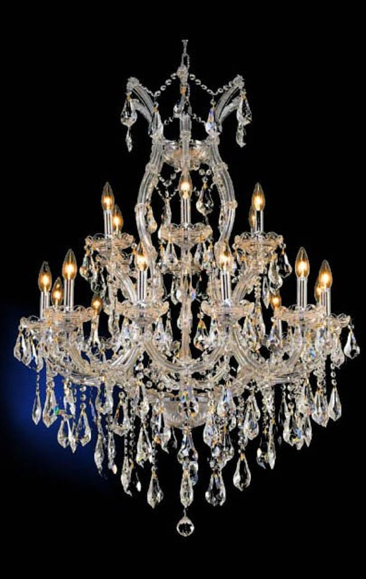346 best crystal chandelier czech glass images on pinterest buy maria theresa clear crystal chandelier w 19 lights in chrome aloadofball Images