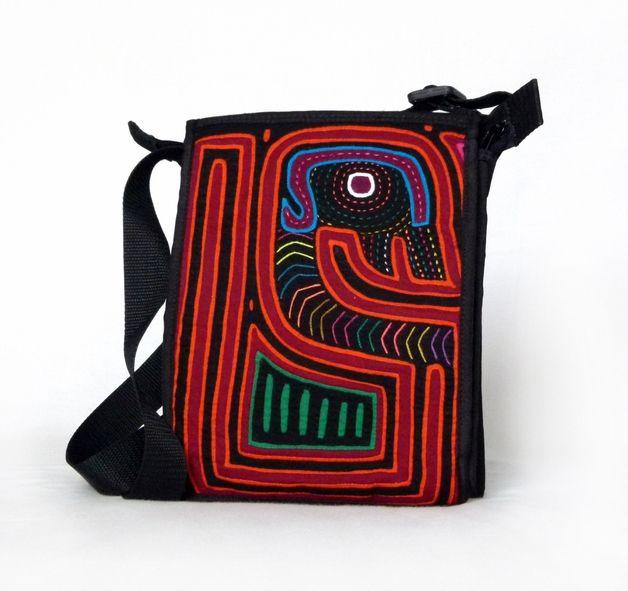 Fabric Messenger Bag with unique Mola Textile - MolaBags