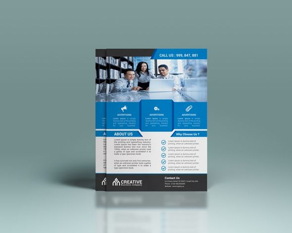 Flyer, brochure, pamphlet, leaflet design template for home - product flyer